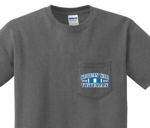 Pocket T Shirt Men S Korean War Veteran Pocket Tee For Men Dark Gray