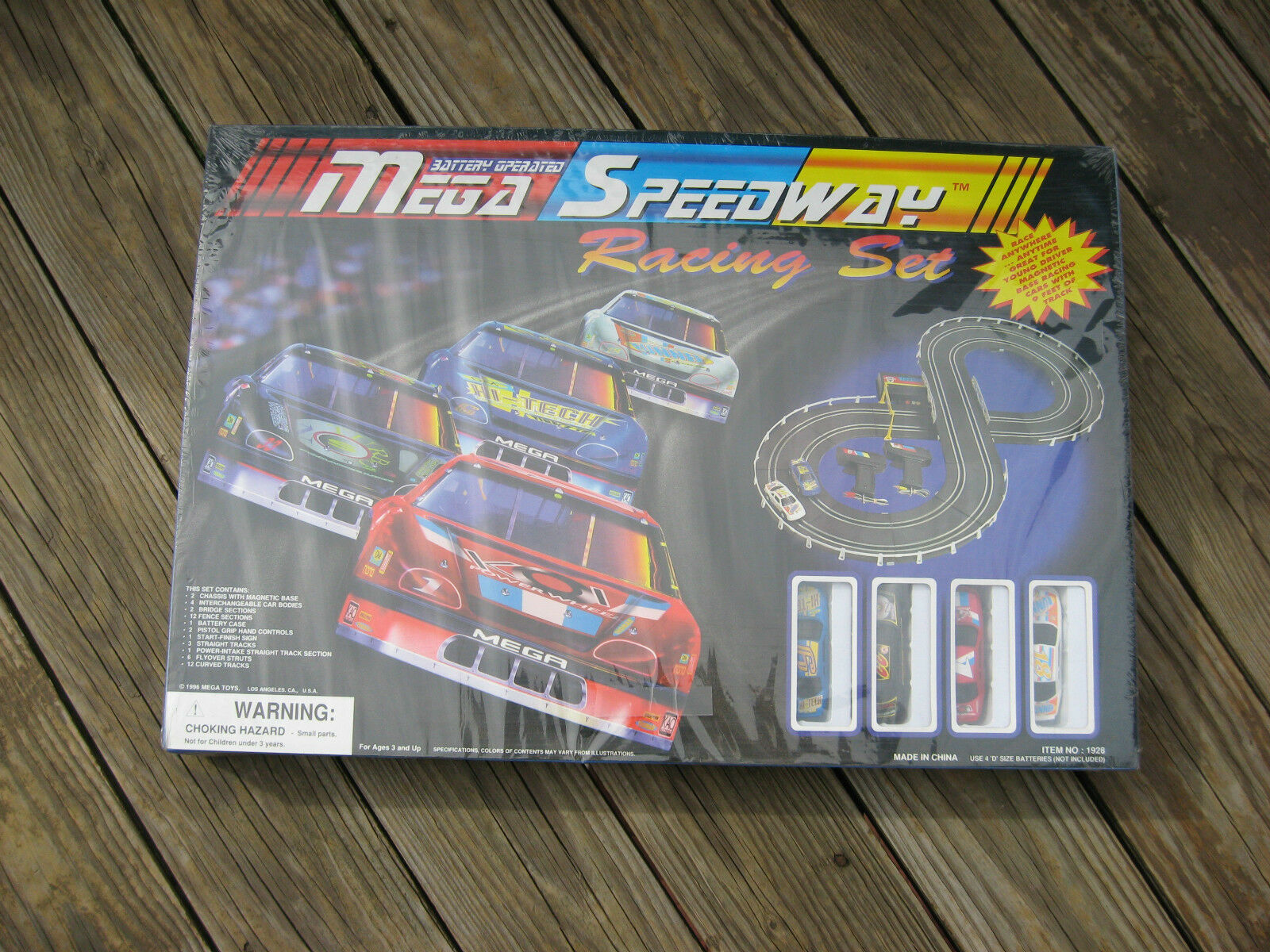 Vintage 1996 Mega Speedway Battery Operated Racing Set New & Sealed In Box