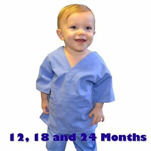 Toddler Scrubs Set Real Ceil Blue Childrens Doctor And