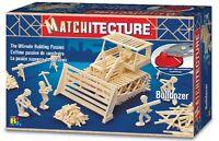 Matchitecture Bulldozer 6640 Wood Matchstick Construction Model Kit