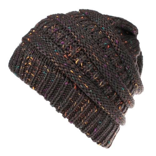 Hombres Mujeres Informal de Lana de Invierno cálido Crochet Knit Beanie Tapas de cráneo Slouchy Reino Unido
