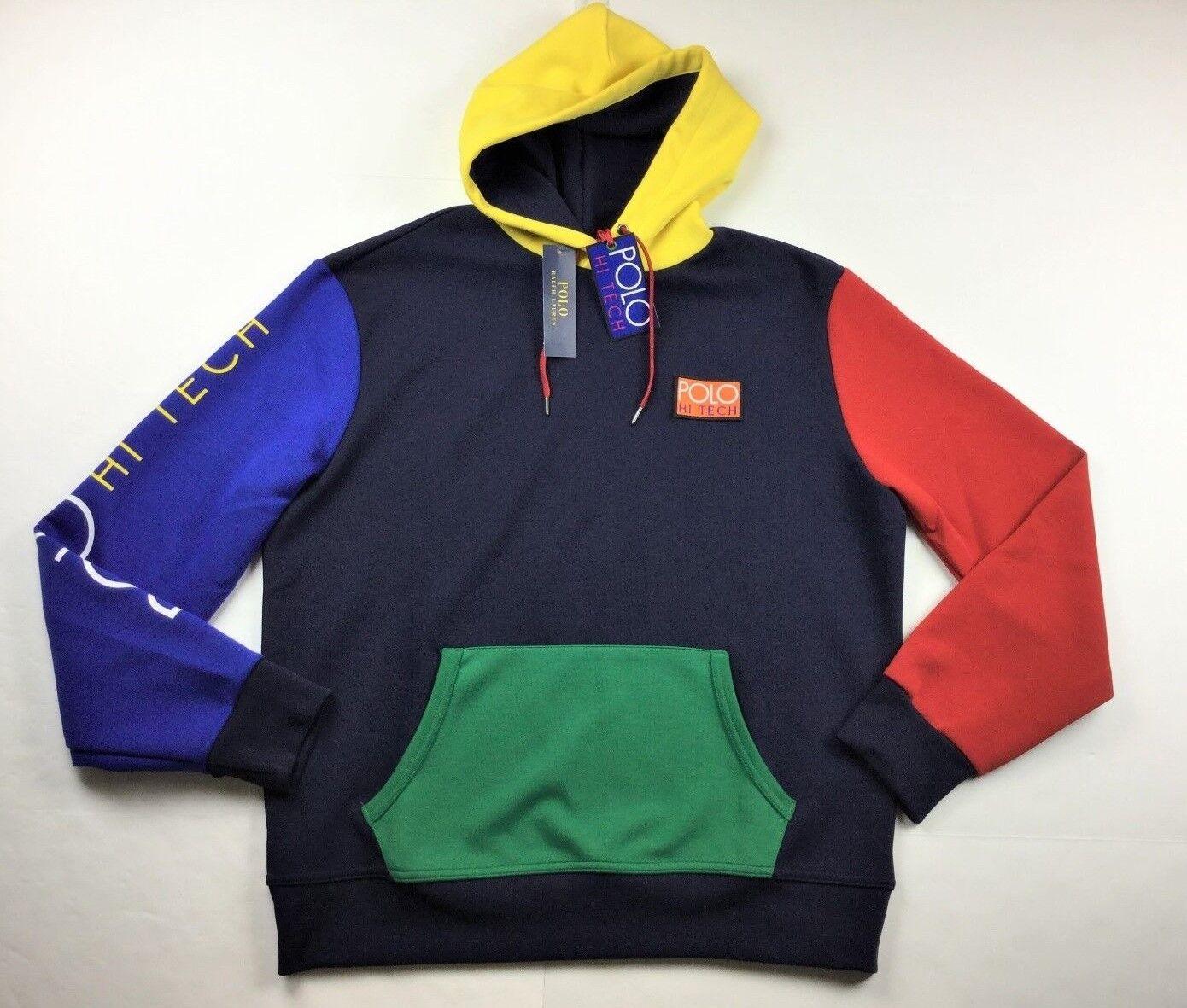 Polo Ralph Lauren Men Hi Tech Farbe-Blocked Hoodie Sweatshirt Snow Beach CP 93