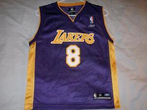 Kobe Bryant 8 Los Angeles Lakers NBA Purple Reebok Jersey Boys ... 02c879794