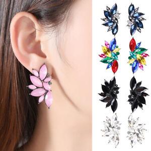 Luxury-Crystal-Stud-Earrings-For-Women-Girl-Party-Opal-Stone-Ear-Stud-Jewelry