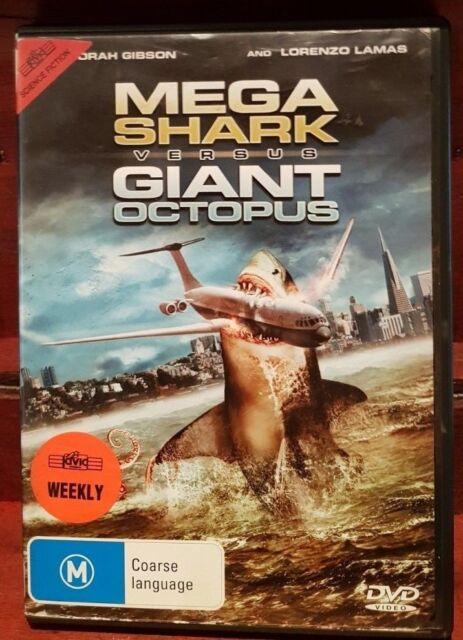 Mega Shark Versus Giant Octopus (DVD, 2009) Ex-Rental - Free Postage