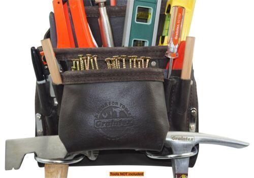 Ps1234 Bolsa De Herramientas Con 10 Bolsillos Y Cuero Curtido Con Aceite