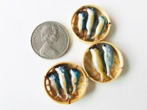 Mackerel Fish dollhouse miniatures Handmade supply