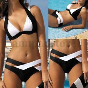 d8ea8de20a Women Monokini Bikini Set Bandage Push-Up Bra Swimwear Swimsuit ...
