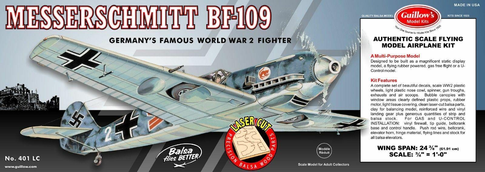 WWII Folke-Wulf Fw 190  GUI-502 Guillow/'s Flying Balsa Wood Model Airplane Kit