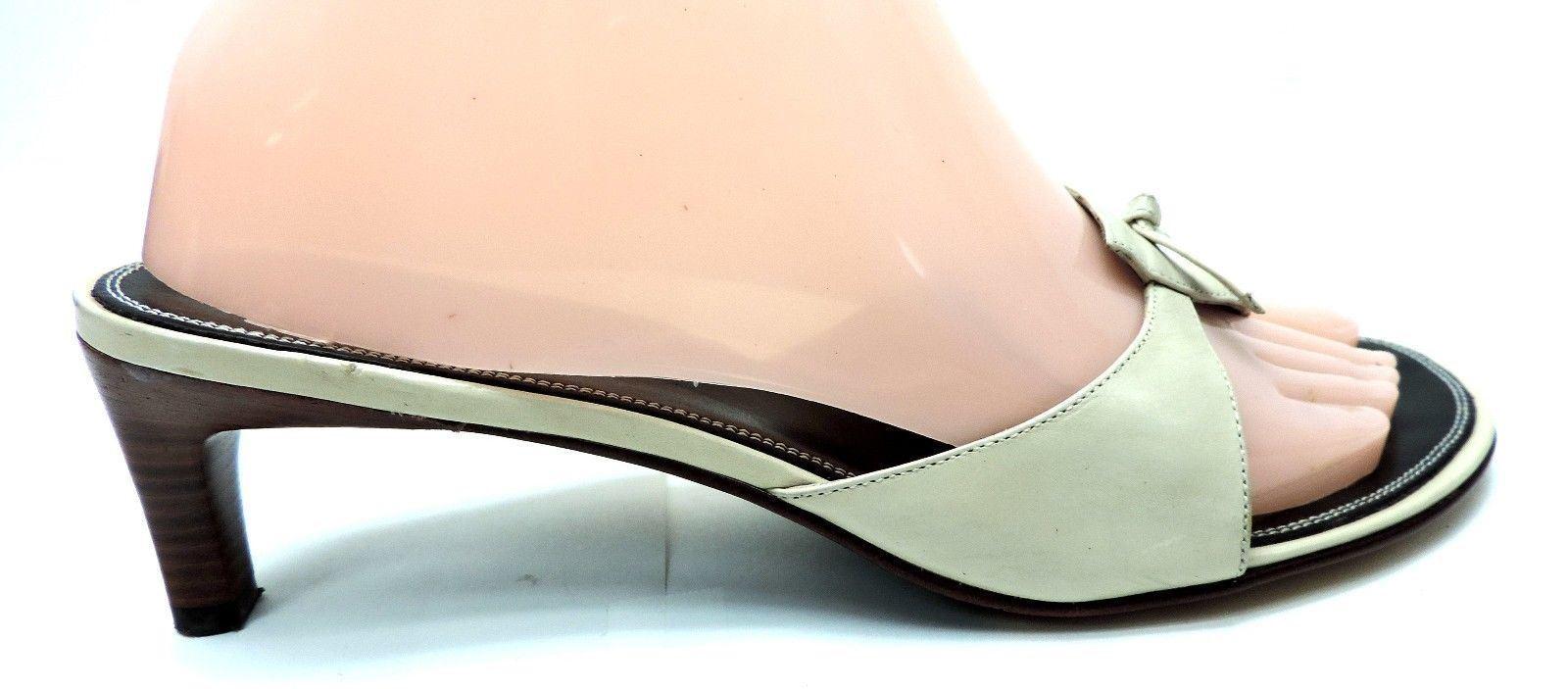 Cole Haan women's size 7.5 B shoes sandals medium heels leather shoes B slides c8162f