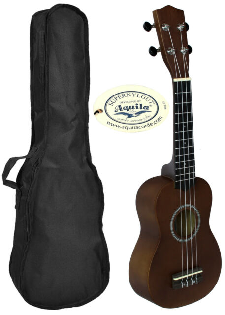 Ukelele LANAI color Natural con Funda. Diapason Granadillo Ukulele Soprano