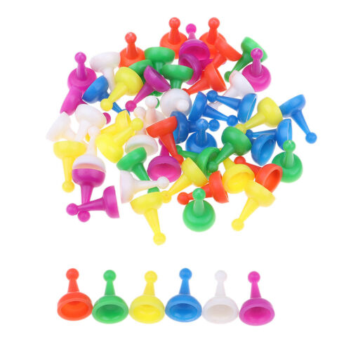 60Pc Colorful Plastic Chess Pieces Chessman for Draughts Checkers Board Game