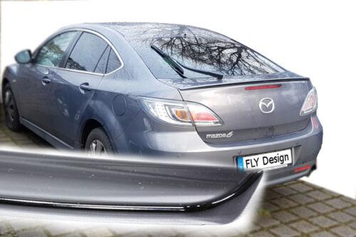 Mazda 6 facelift tuning spoiler SCHWARZ glanz lack abrisskante heckspoiler lippe