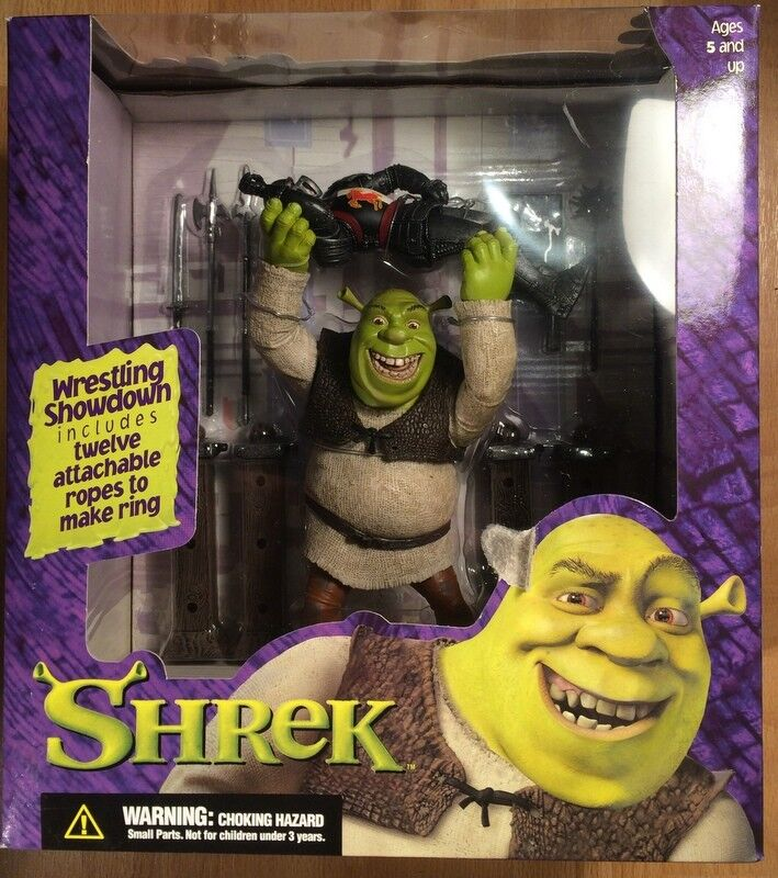 McFarlane Toys Shrek Wrestlin Shrek and ring Excellent Xmas Present New MIB