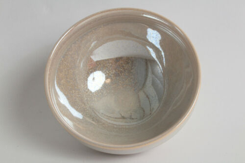 Mino ware Japanese Pottery Tea Ceremony Matcha Bowl Pearl White Luster Kyo-style