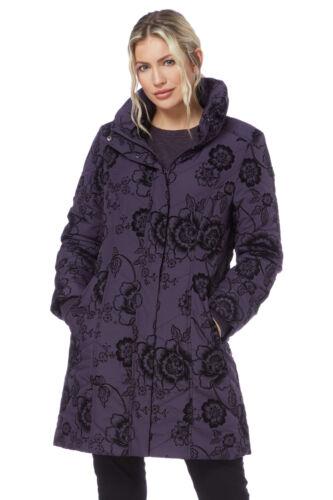 Roman Originals Women/'s Floral Velvet Coat