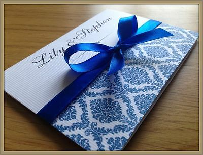 Personalised Wedding Invitations Day Evening Invites + Envelopes ★★★Majestic★★★