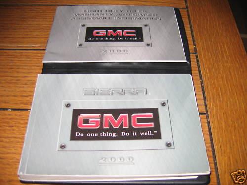 2000 GMC SIERRA PICKUP OWNERS MANUAL OWNER/'S SET SLE