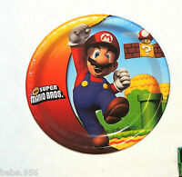 Super Mario Bros 8-paper Lunch Plates Multi-color Party Supplies
