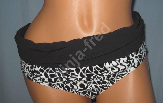ALEX MARIE~SIZE 10~Brown Animal Print Banded Pant Bikini Swimsuit Bottom