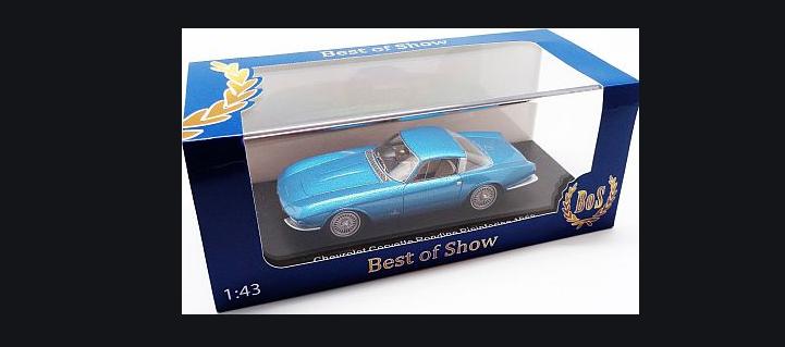 Chevrolet Corvette Rondine Pininfarina Blau Metallic 43150 BOS 1 43