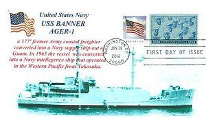 Uss-Banner-AGER-1-Inteligencia-Barco-Seventh-Flota-1967-69-Cacheted-Primer-Dia