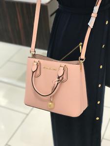 MICHAEL KORS ADELE Messenger Crossbody Leather Bag Blossom