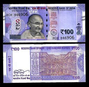 Rs-100-India-Banknote-Shakti-Das-034-L-034-2019-NEW-GANDHI-GEM-UNC-RARE