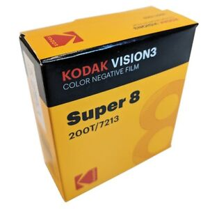 KODAK-Super-8MM-200T-7213-VISION-3-COLOR-Negative-BRAND-NEW-FACTORY-FRESH