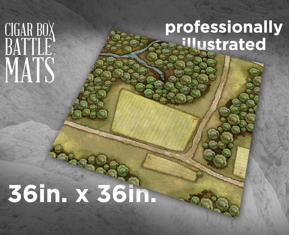 CBM1161 - 3X3 - WOODED GAMING BATTLE MAT - CIGAR BOX BATTLE - SENT FIRST CLASS