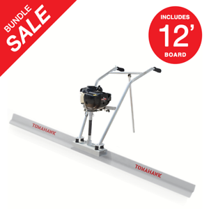 37-7cc-4-Stroke-Gas-Concrete-Wet-Screed-Power-Screed-Cement-12ft-Board