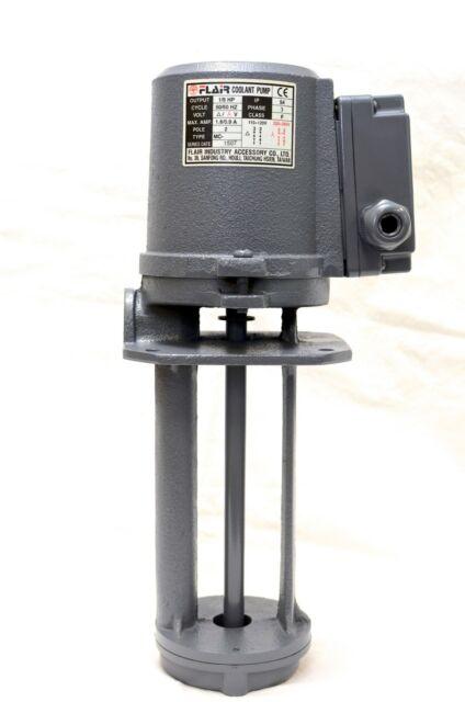 "180mm FLAIR SP-4180-220V 3PH 1//4 HP Filtered Coolant Pump 220V//440V 7/"""