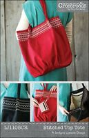 Stitched Top Tote Purse Tote Pattern By Indygo Junction Crossroads 15 X 16
