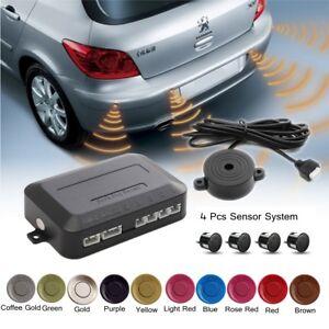 Parking 4 Sensors Car Reverse Backup Rear Buzzer Radar Sound Alarm System  new