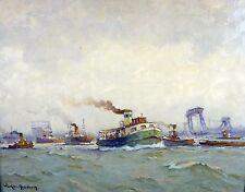 Carl Friedrich Winkler - Hagedorn 1897 Hamburg / Schiffe im Hamburger Hafen