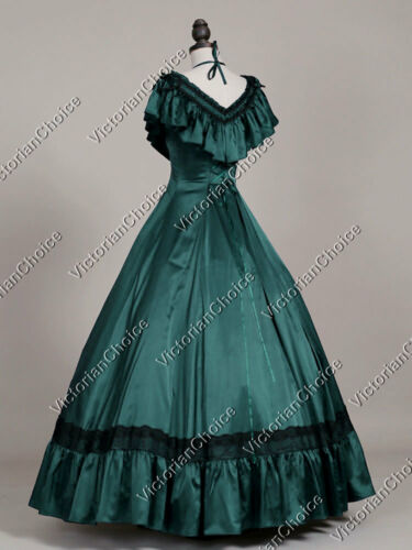 Victorian Dresses- Patterns, Costumes, Custom Dresses    Victorian Gothic Princess Dress Saloon Masquerade Gown Theater Clothing 127 $97.00 AT vintagedancer.com