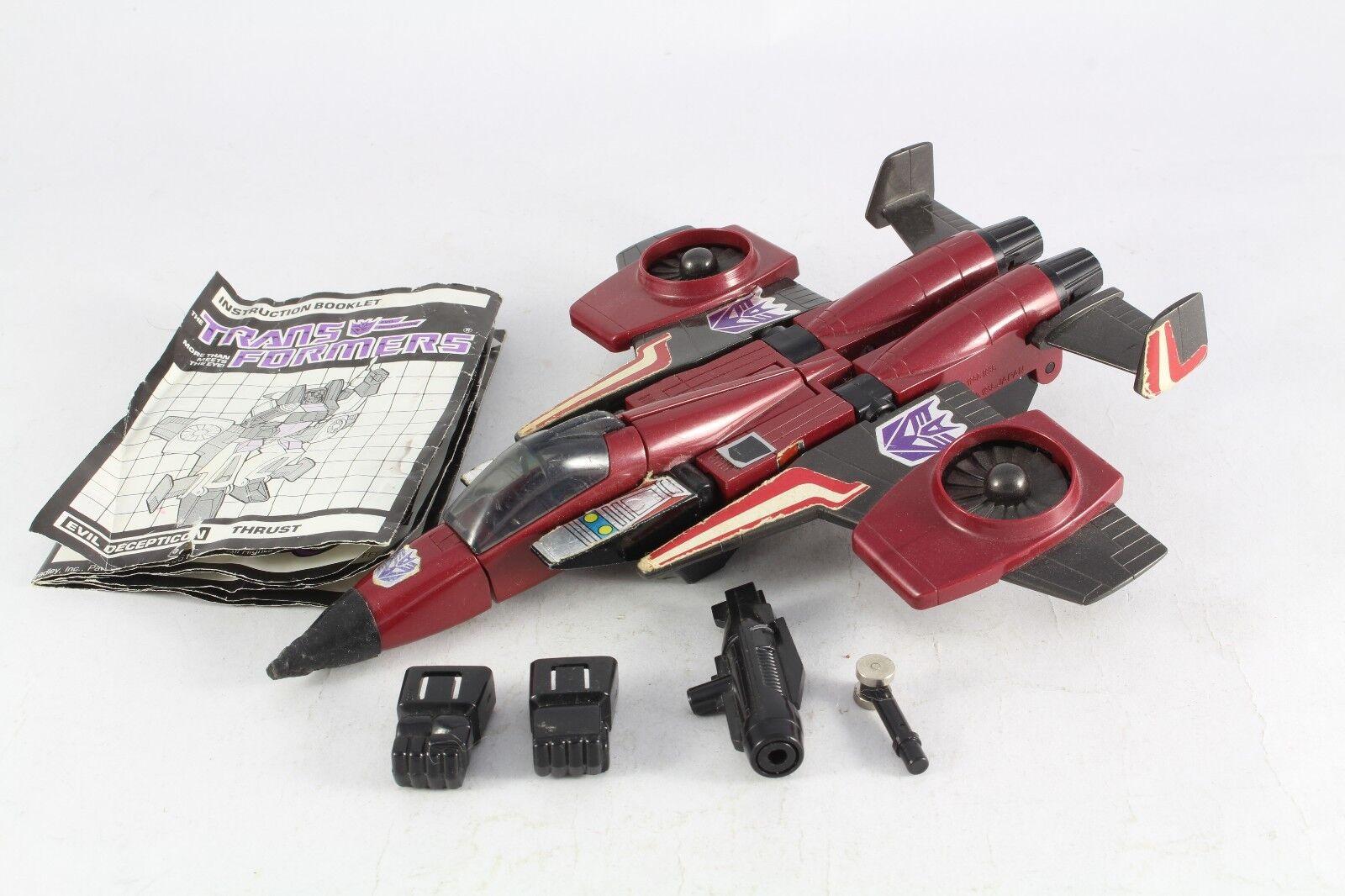 Transformers G1 Thrust, Seeker Jet, Vintage, Incomplete V7