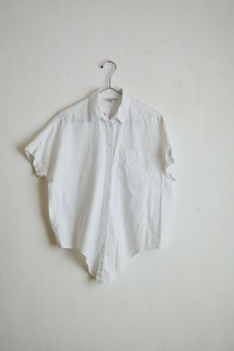 Madewell white cotton top buttoned down size small