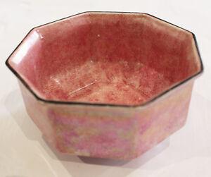 Antique-A-amp-S-Arcadian-Iridescent-LUSTRE-WARE-Pink-Art-Deco-Bowl