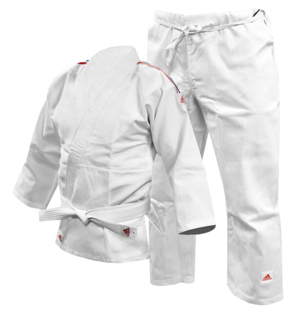 Adidas Kids Judo Suit J250 Childrens Gi White Uniform + Belt Boys Girls Youth