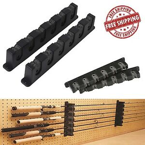 Horizontal Rod Rack 6 Berkley Fishing Holder Storage Pole