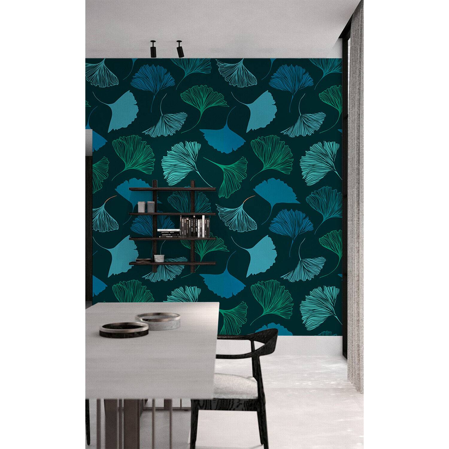 Geometry Leaves Wall Covering Non-Woven wallpaper Traditional Home Mural Decor