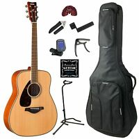 Yamaha Fg820 Left Handed Acoustic Guitar Deluxe Pack on sale