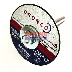 Dronco mini metal cutting disc 6mm bore 50mm 1mm 2mm die grinders drill  arbour