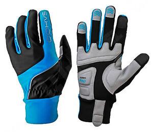 Warme-Fahrrad-Handschuhe-Fahrradhandschuhe-Rad-Bike-M-Touchscreen-Blau-Herbst