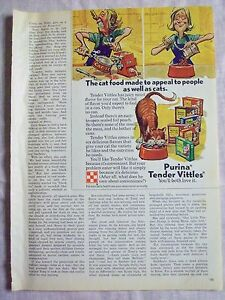 1973 Magazine Advertisement Page For Purina Tender Vittles Cat Food