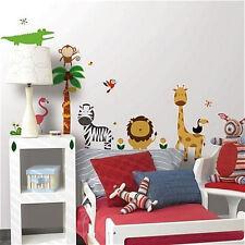JUNGLE ANIMALS wall stickers 41 decals ZOO SAFARI tree monkey elephant lion