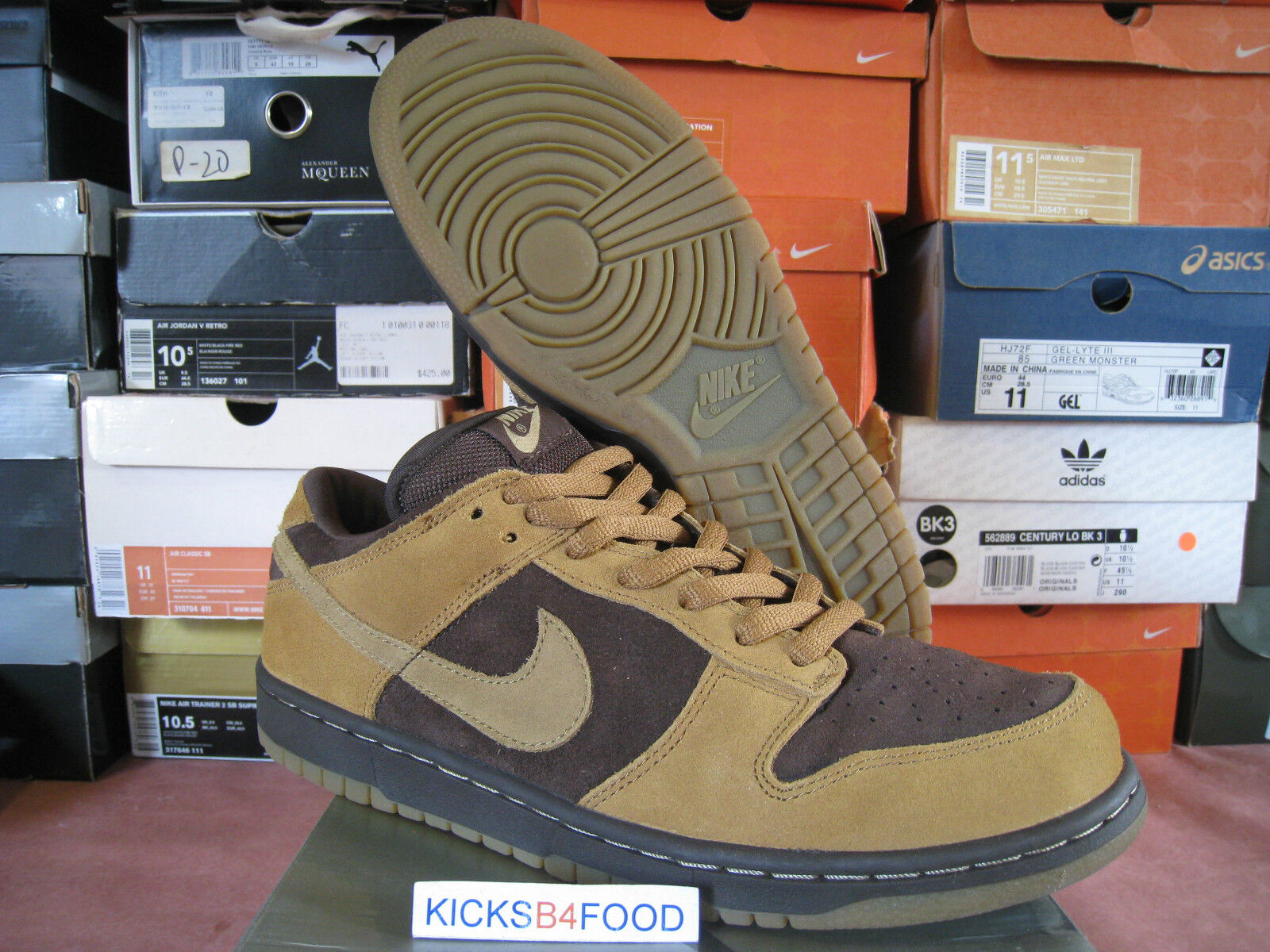 2003 Nike Dunk SB Brown Pack 10.5 SB Forbes Wheat Paul Brown Tweed Hunter Pro jp