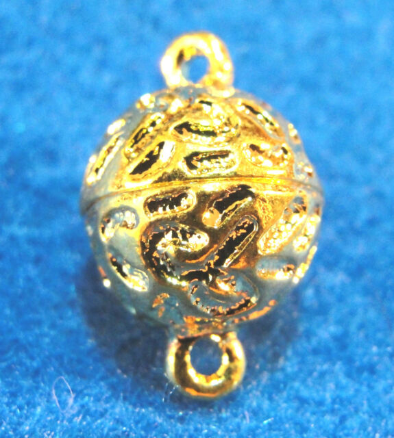2 Magnetic Gold-Plated 12mm Ball Clasps Connectors Tibetan Jewelry Findings MC10