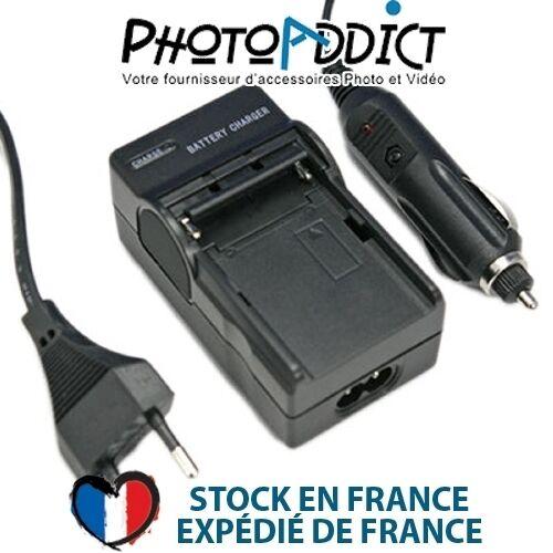 Chargeur pour batterie SAMSUNG SLB-1237/EU94 - 110 / 220V et 12V